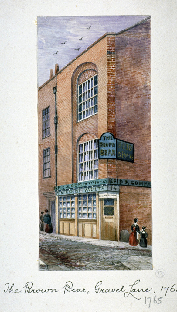 Detail of View of the Brown Bear Tavern, Gravel Lane, Houndsditch, City of London by