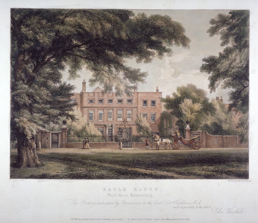 View of Eagle House, Brook Green, Hammersmith, London by Day & Haghe