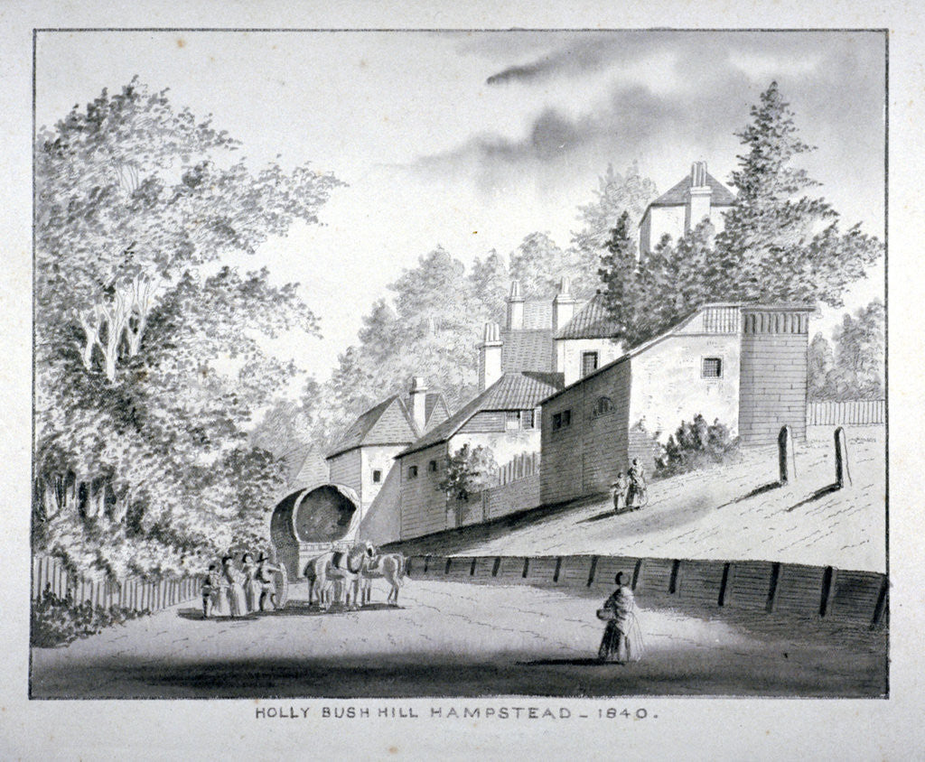Detail of View of Holly Bush Hill, Hampstead, London by Anonymous
