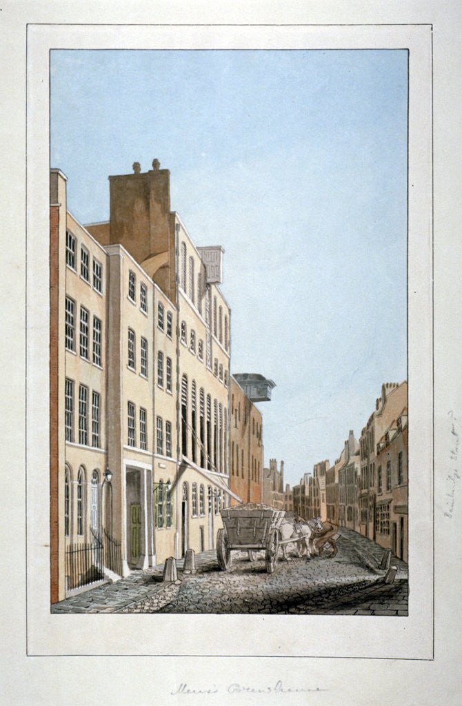 Detail of View of Meux's Brewery and a horse and cart in Clerkenwell Road, Finsbury, London by Anonymous