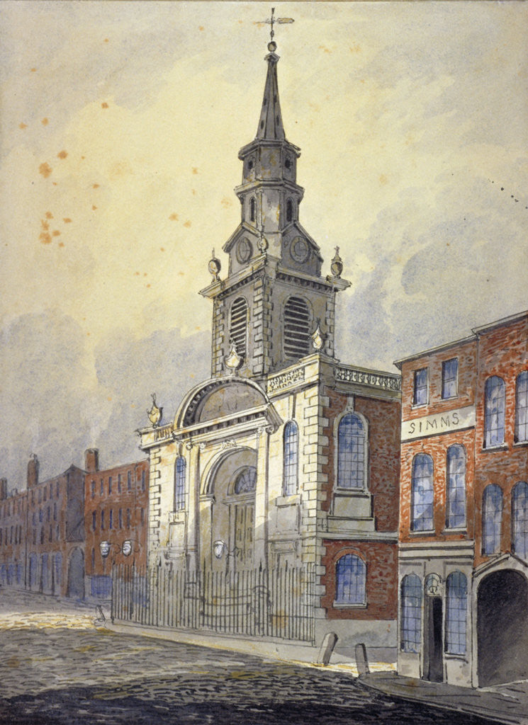 Detail of St George's Church, Borough High Street, Southwark, London by William Pearson