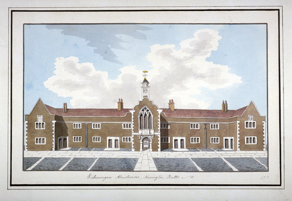 Detail of Fishmongers' Almshouses, Southwark, London by Anonymous