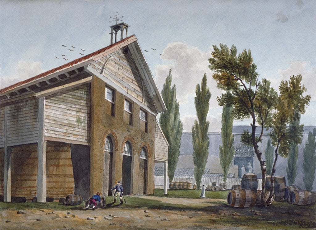 Detail of Beaufoy's Vinegar Works on the site of Cuper's Gardens, Lambeth, London by George Shepherd