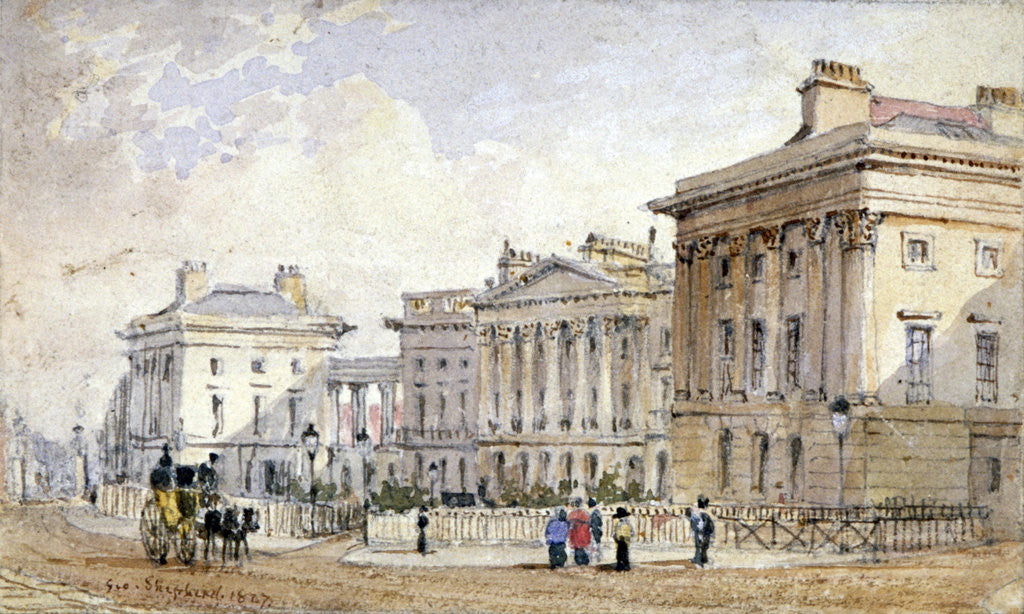 Detail of View of Clarence Terrace in Regent's Park, London by