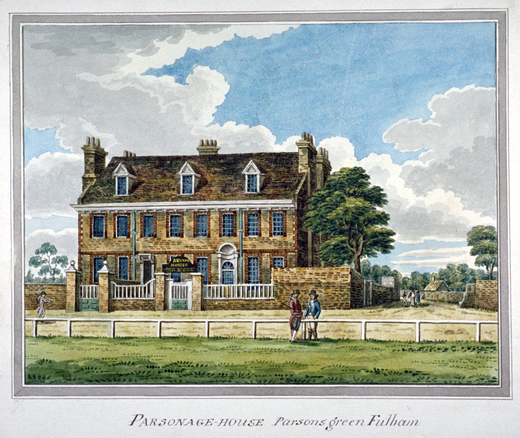 Detail of View of Parsonage House, Parson's Green, Fulham, London by Anonymous
