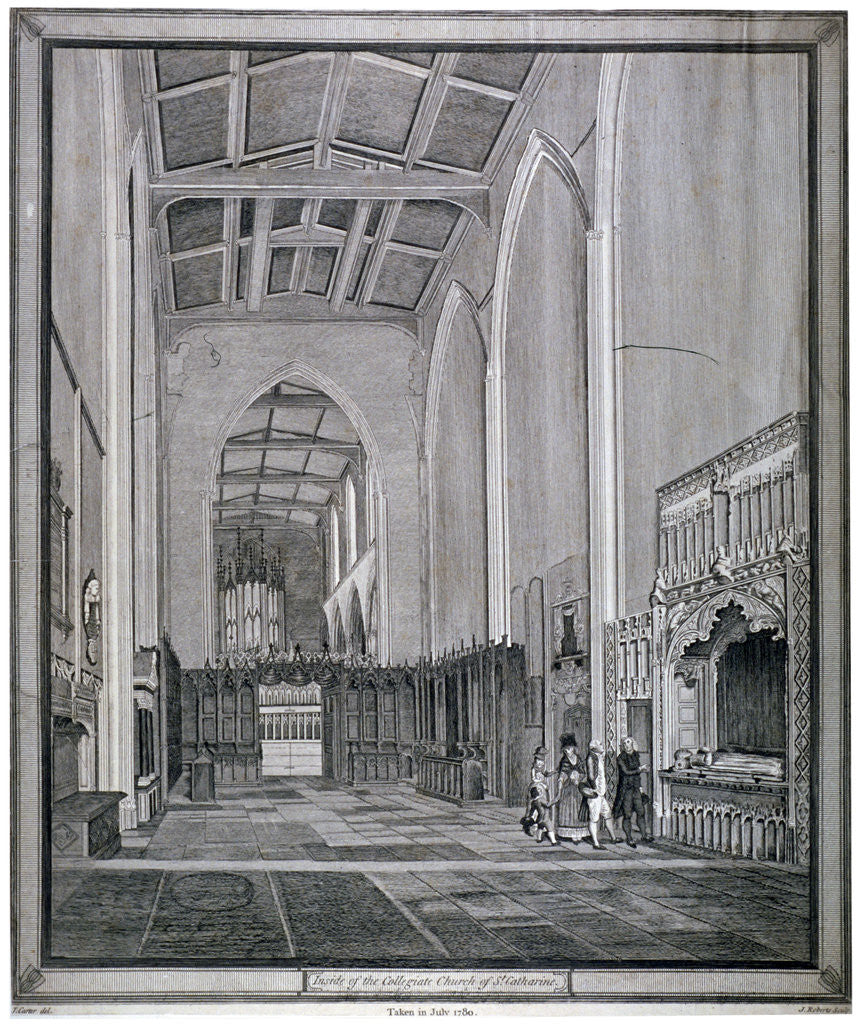 Detail of Interior of the Church of St Katherine by the Tower, Stepney, London by