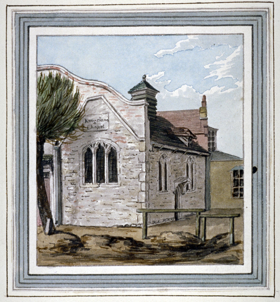 View of Kingsland Chapel, Kingsland Road, Hackney, London by Anonymous