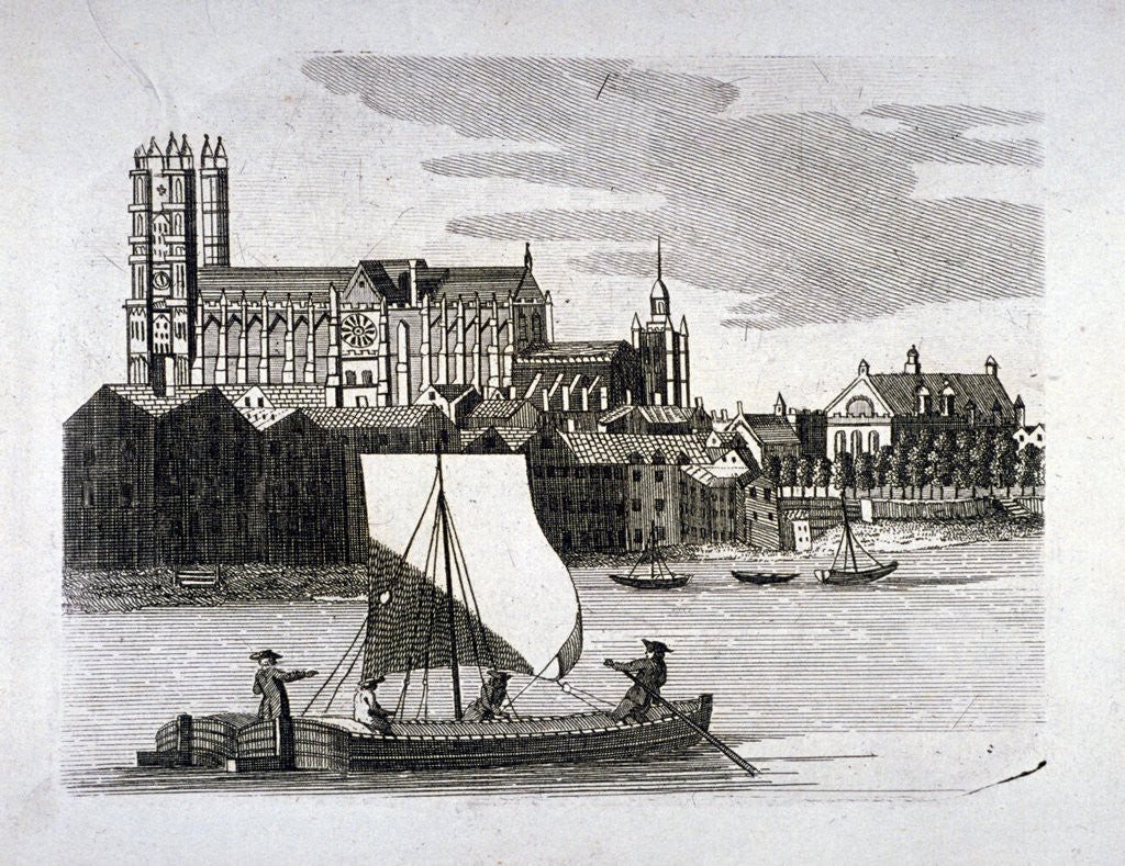 Detail of View of Westminster Abbey, London by Anonymous