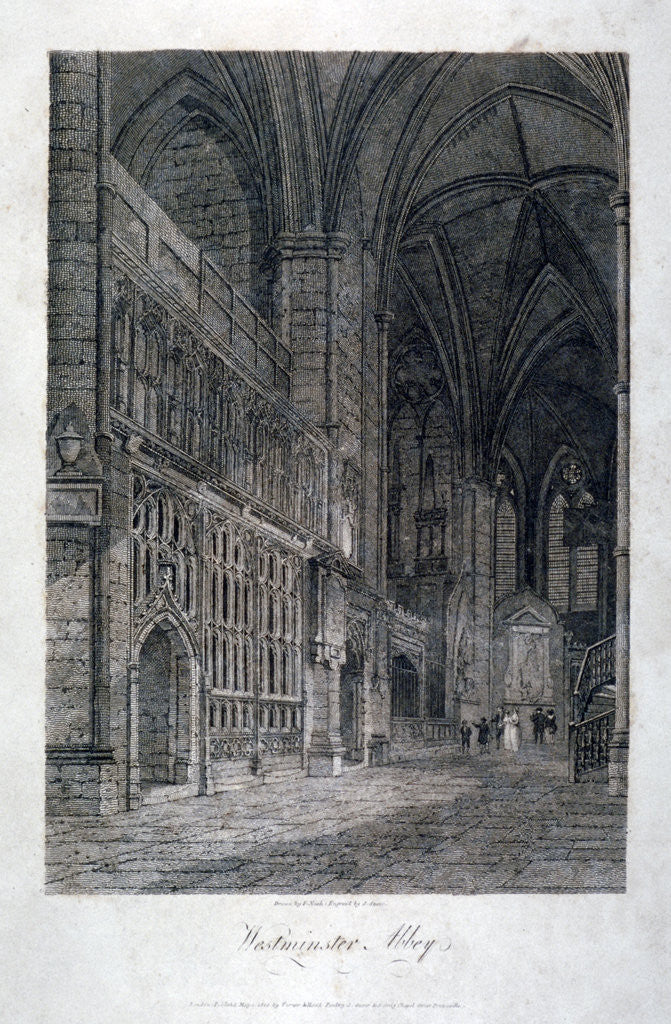 Detail of Interior view of Westminster Abbey, London by
