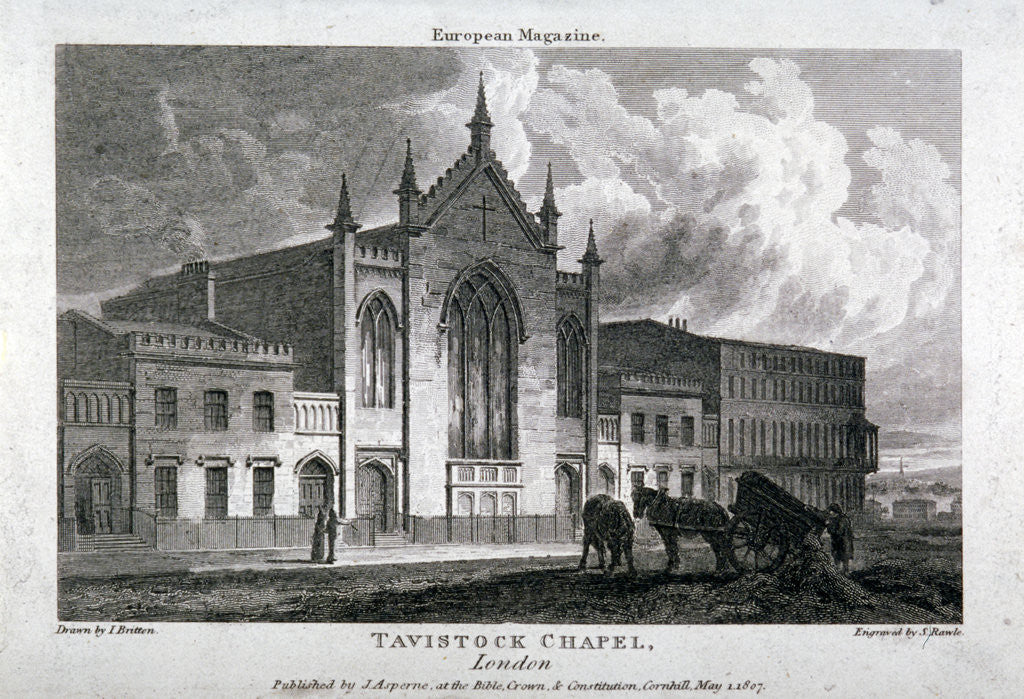 Detail of Tavistock Chapel, Tavistock Place, St Pancras, London by Samuel Rawle