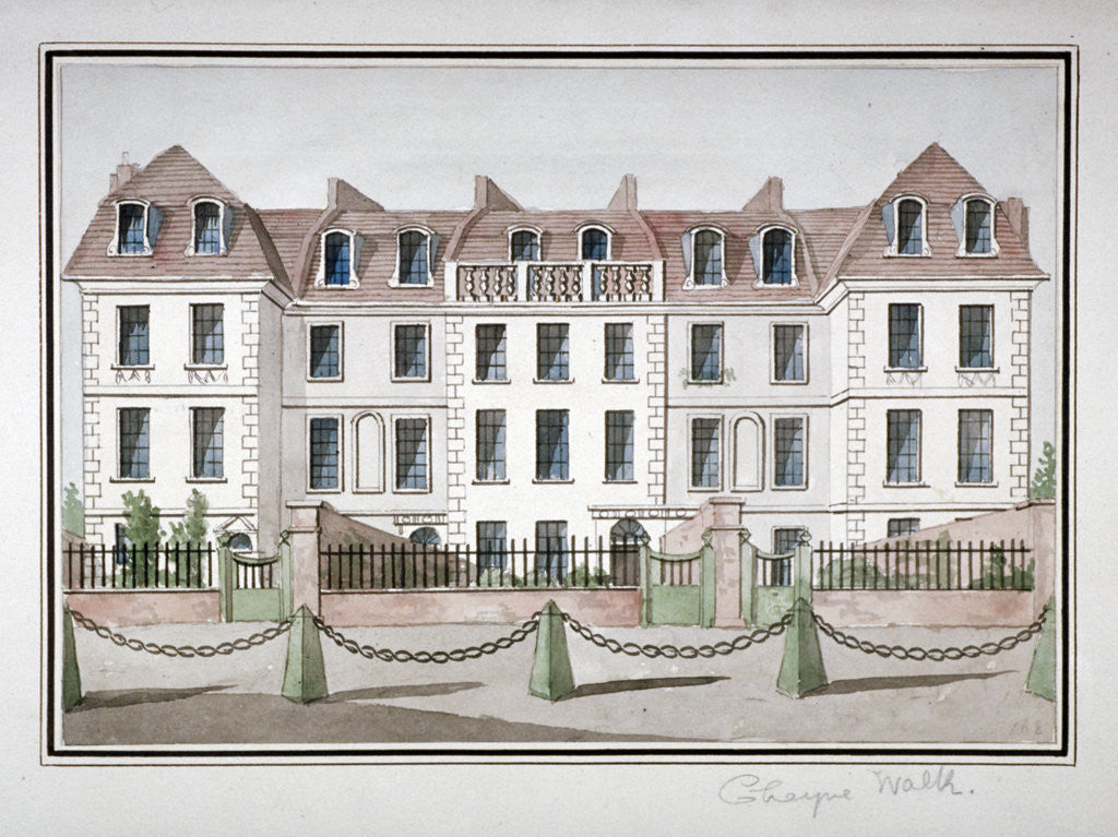 Detail of Houses at Cheyne Walk, Chelsea, London by Anonymous