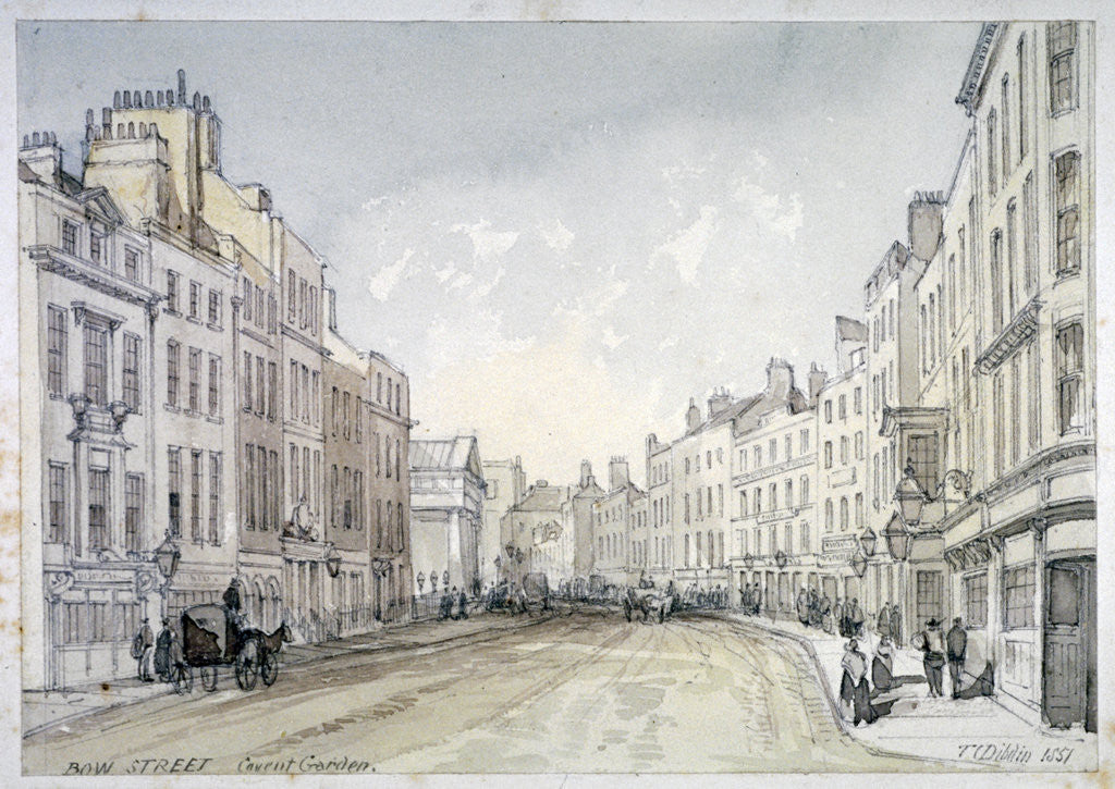 Detail of Bow Street, Westminster, London by Thomas Colman Dibdin