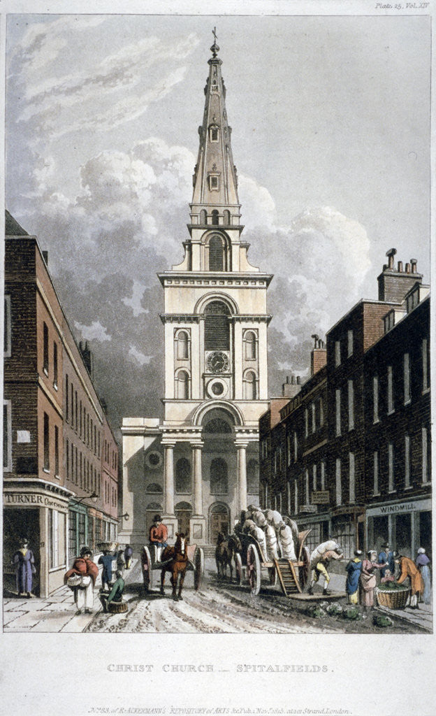 Detail of Christ Church, Spitalfields, London by Anonymous