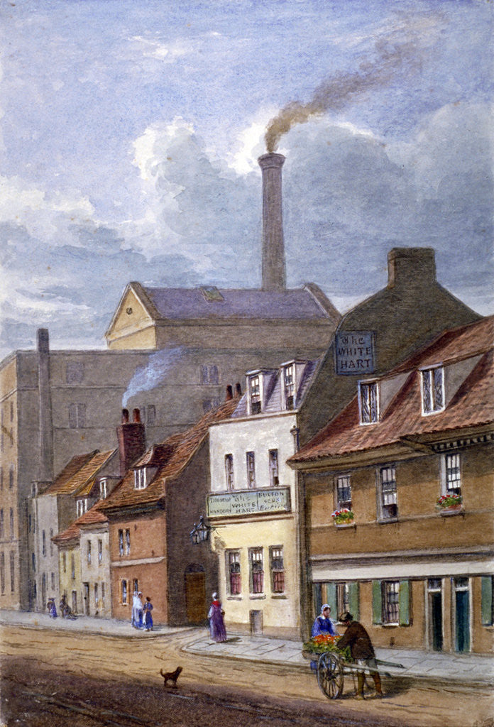 Detail of The White Hart Inn, High Street, Shadwell, London by JT Wilson
