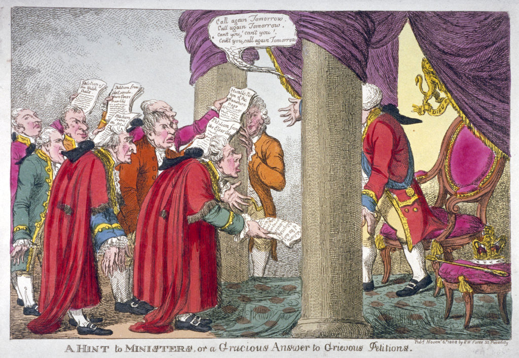 Detail of Petitioners before George III by Anonymous