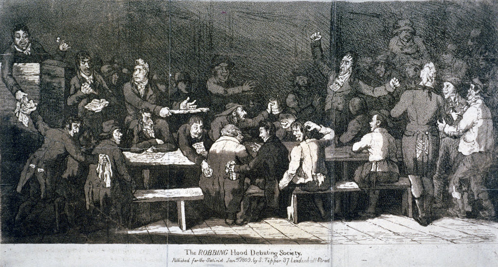 Detail of The Robbing Hood Debating Society by