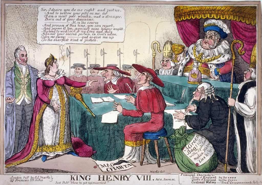 Detail of King Henry VIII, act II, scene iv by JL Marks