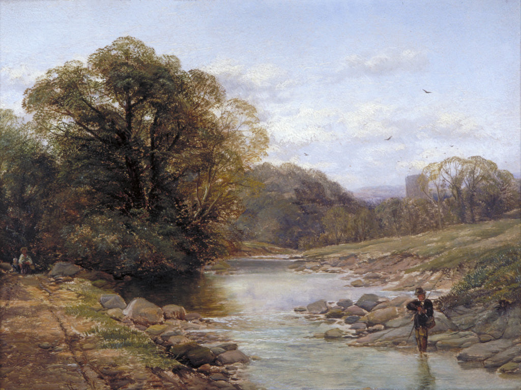 Detail of A Sylvan Stream by Thomas Creswick