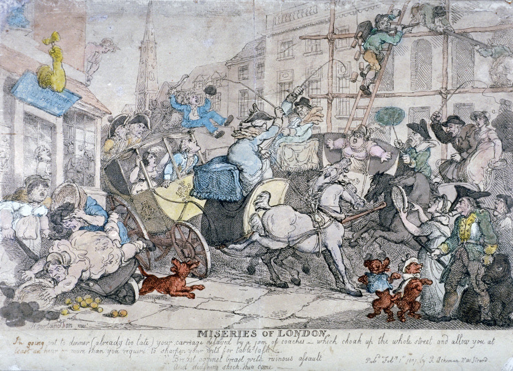 Detail of Miseries of London... by Thomas Rowlandson