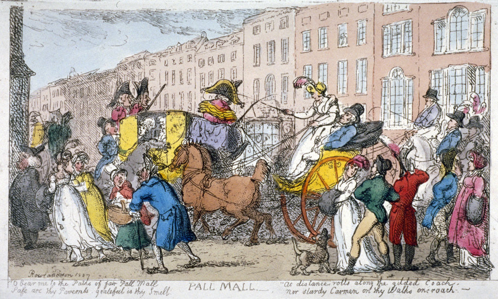 Detail of Pall Mall by Thomas Rowlandson