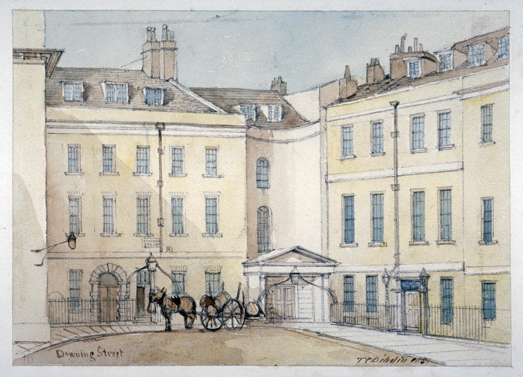 Detail of View of Downing Street, Westminster, London by