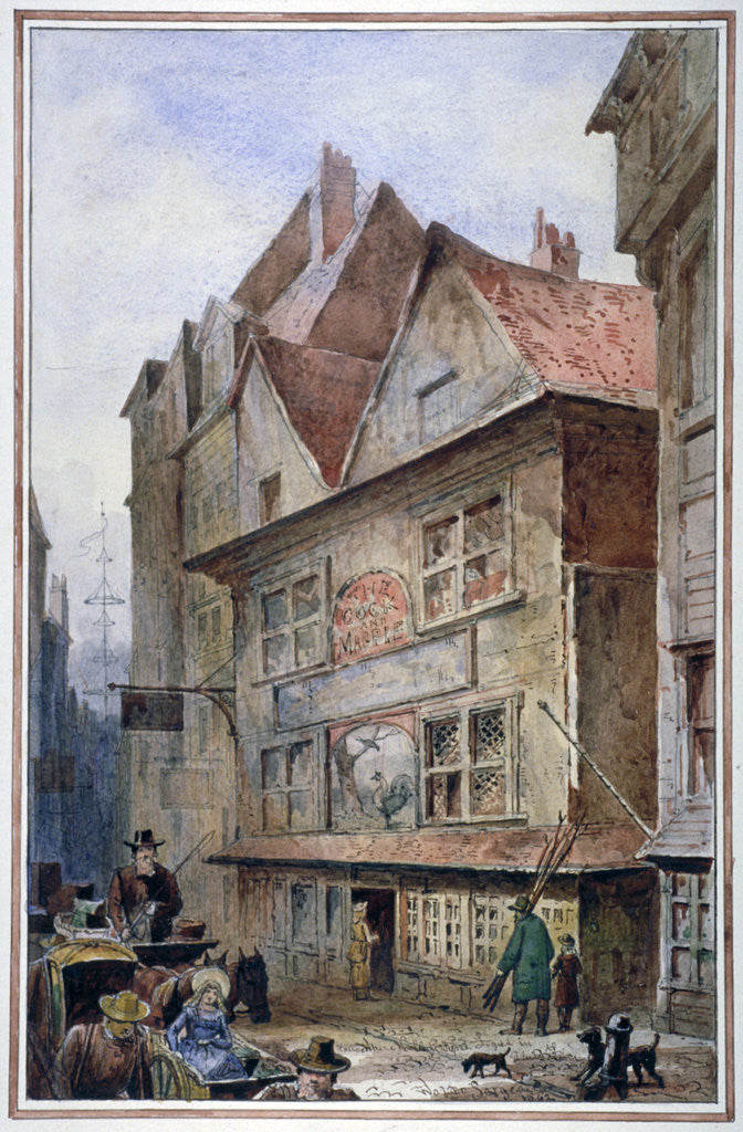 Detail of The Cock and Magpie Tavern, Drury Lane, Westminster, London by Waldo Sargeant