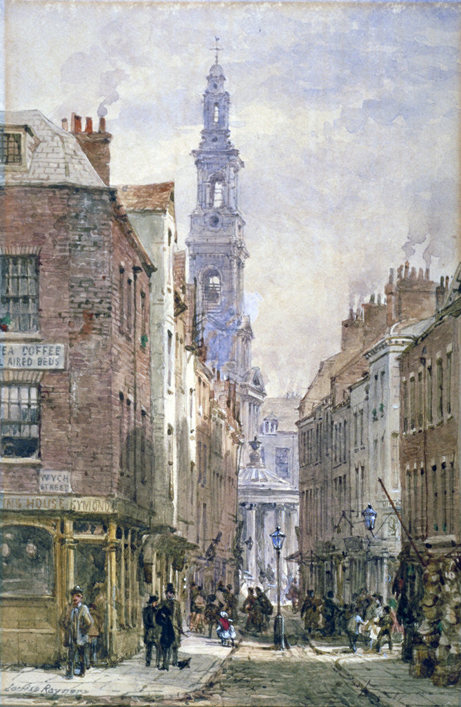 Detail of View of Drury Court from Wych Street, Westminster, London by Louise Rayner