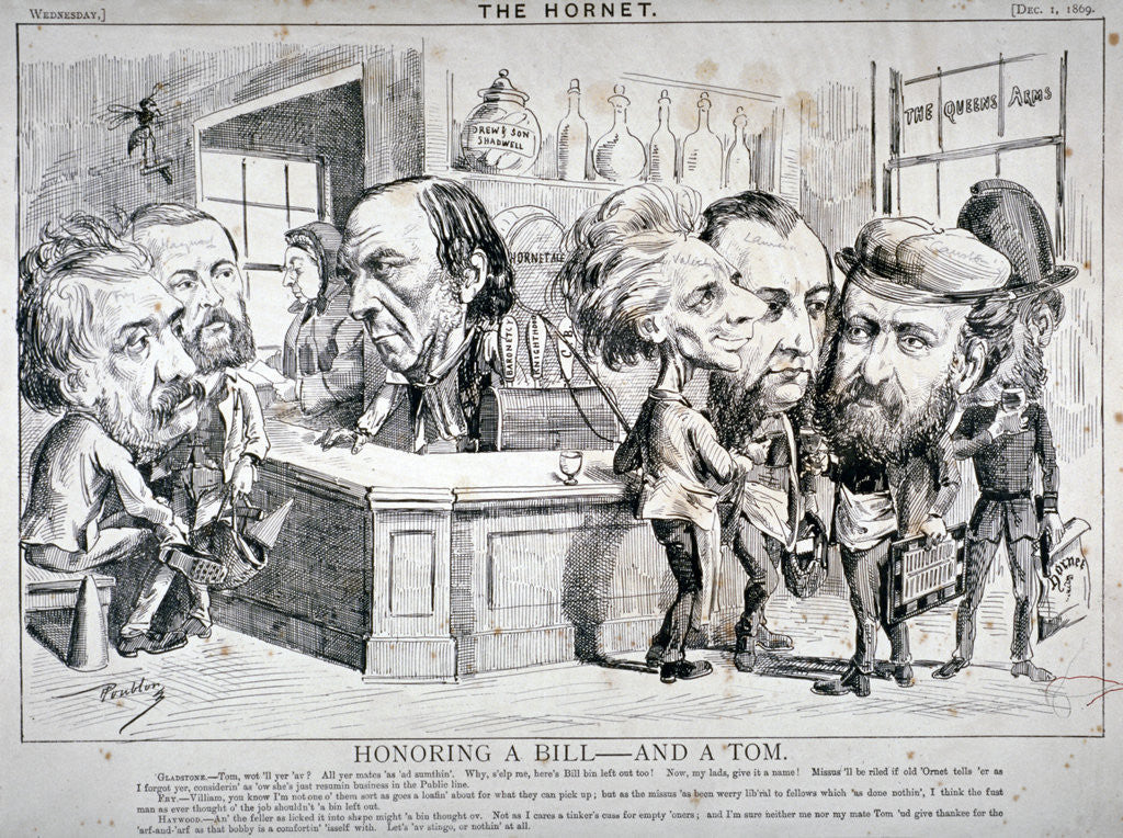 Detail of Honouring a Bill - and a Tom by Anonymous