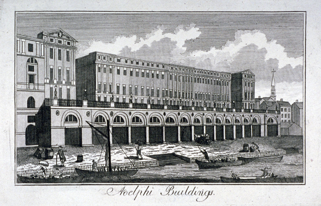 Detail of View of the Adelphi riverside development, Westminster, London by Anonymous