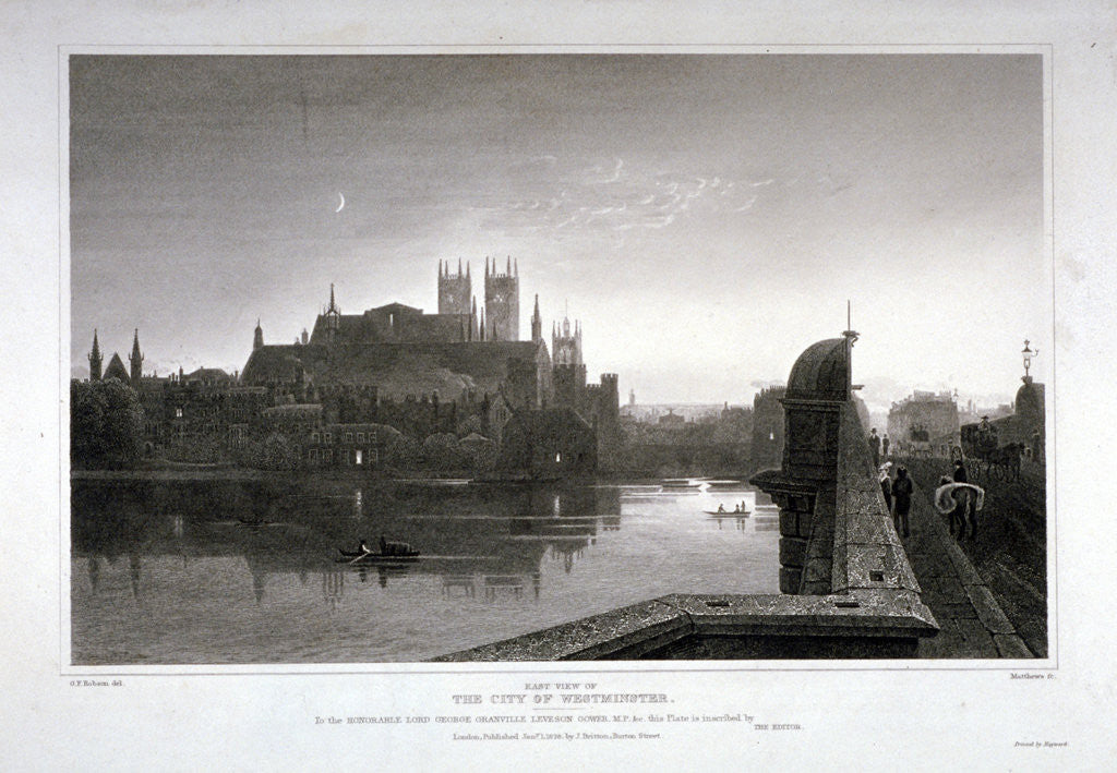 Detail of Westminster, London by C Matthews