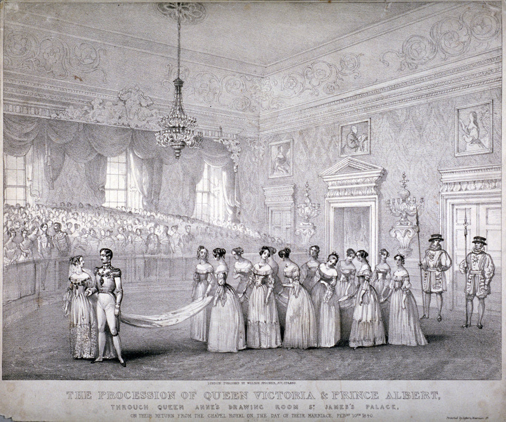 Detail of Wedding of Queen Victoria and Prince Albert, St James's Palace, Westminster, London by