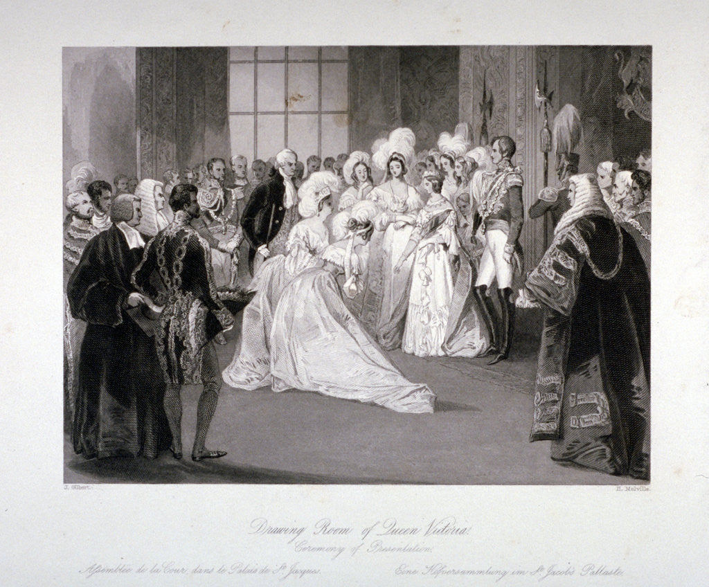 Detail of Presentation ceremony in St James's Palace, Westmister, London by Harden Sidney Melville