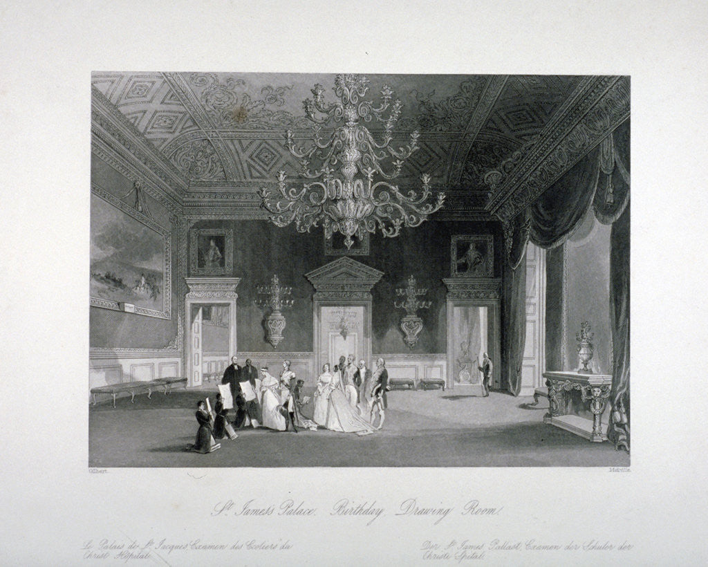 Detail of Drawing-room in St James's Palace, Westminster, London by Harden Sidney Melville