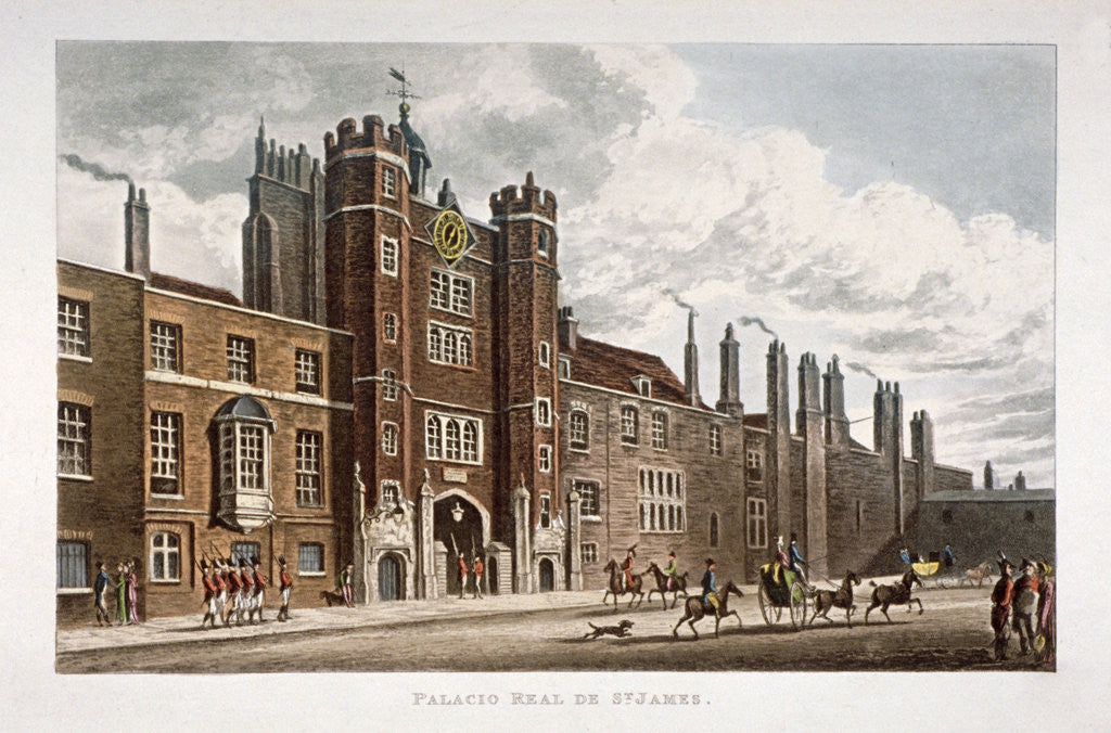 Detail of View of the front of St James's Palace, Westminster, London by Anonymous