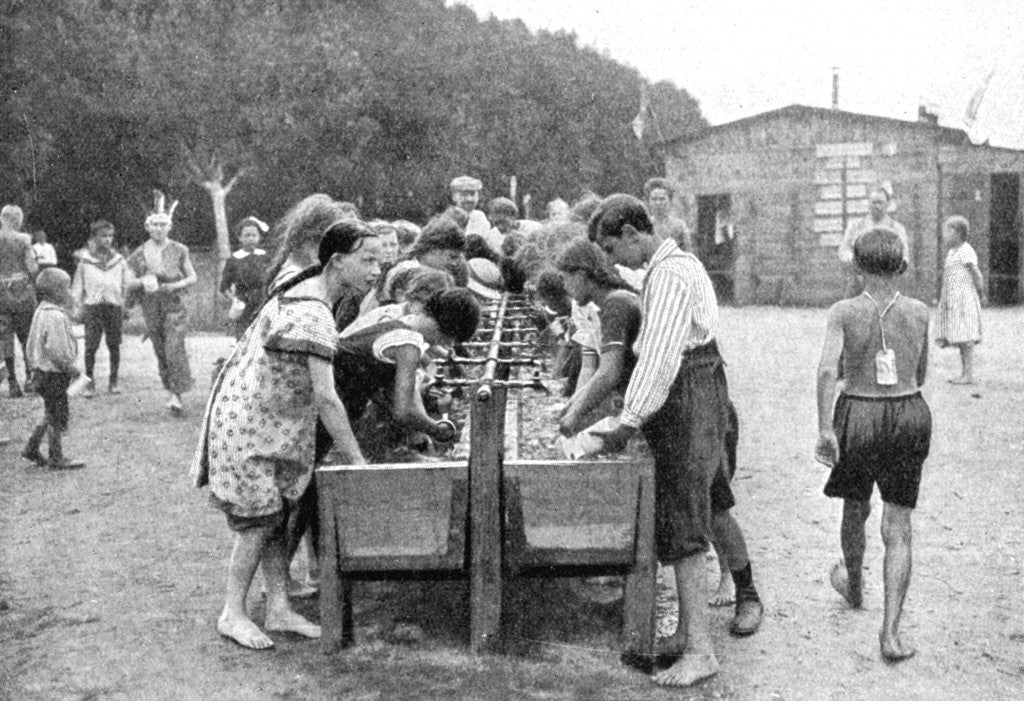 Detail of Washing-up at a juvenile summer holiday camp, Germany by Otto Haeckel