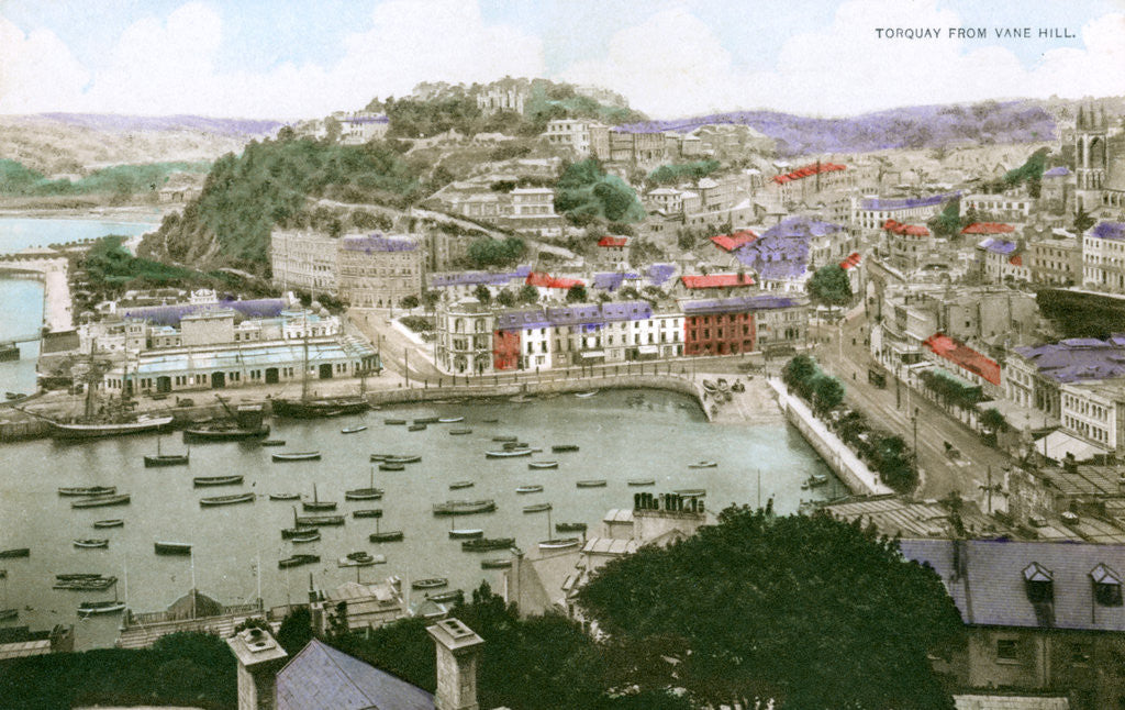 Detail of Torquay, Devon by Ern Bishop