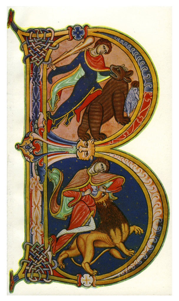 Detail of Initial B, Bible, Winchester by Anonymous