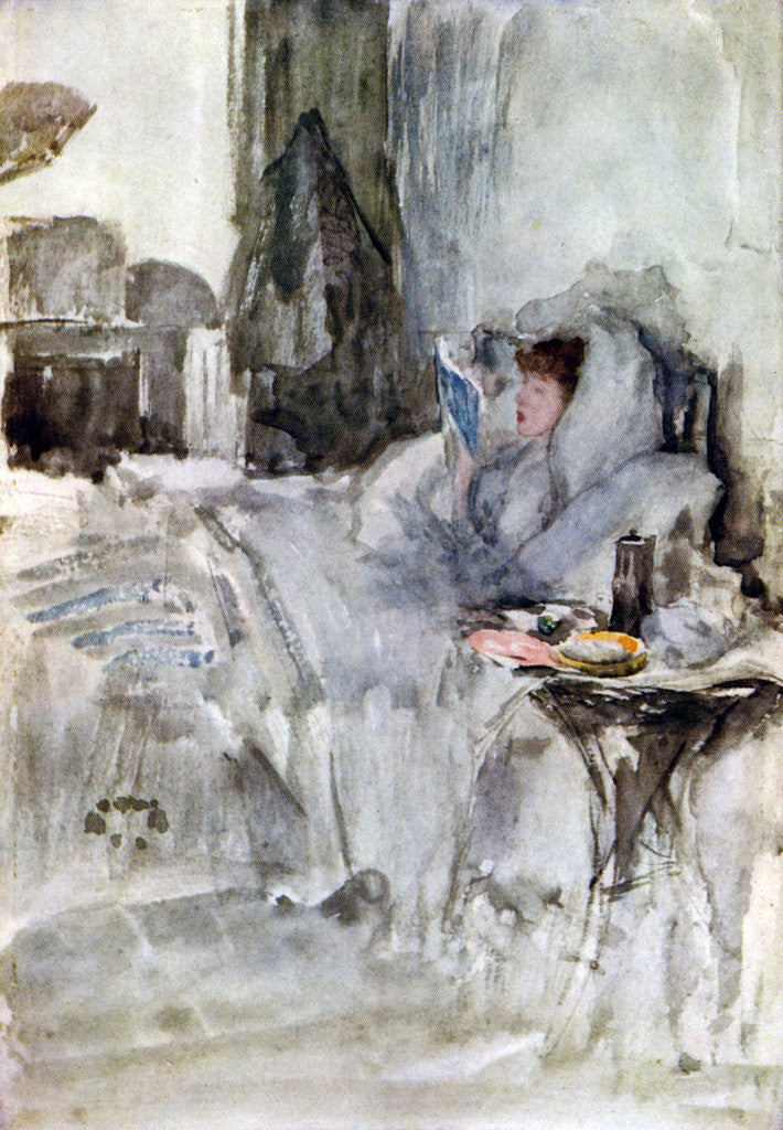 Detail of The Convalescent by James Abbott McNeill Whistler