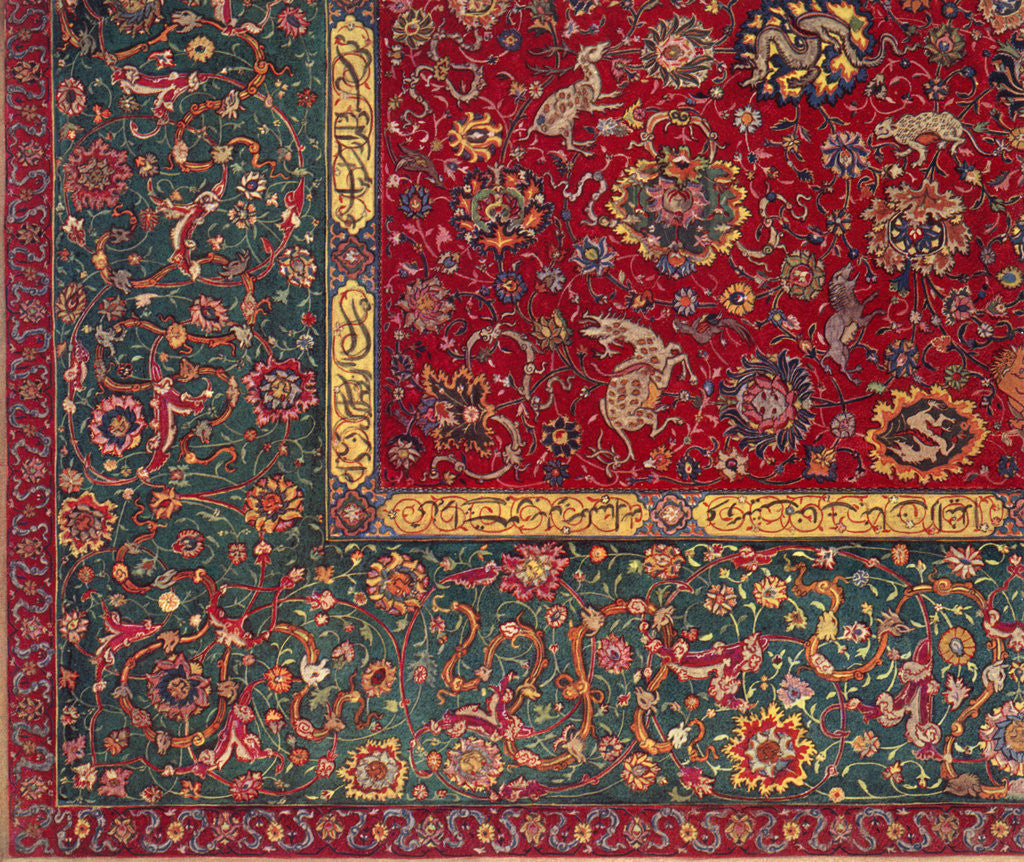 Detail of Persian carpet by Anonymous
