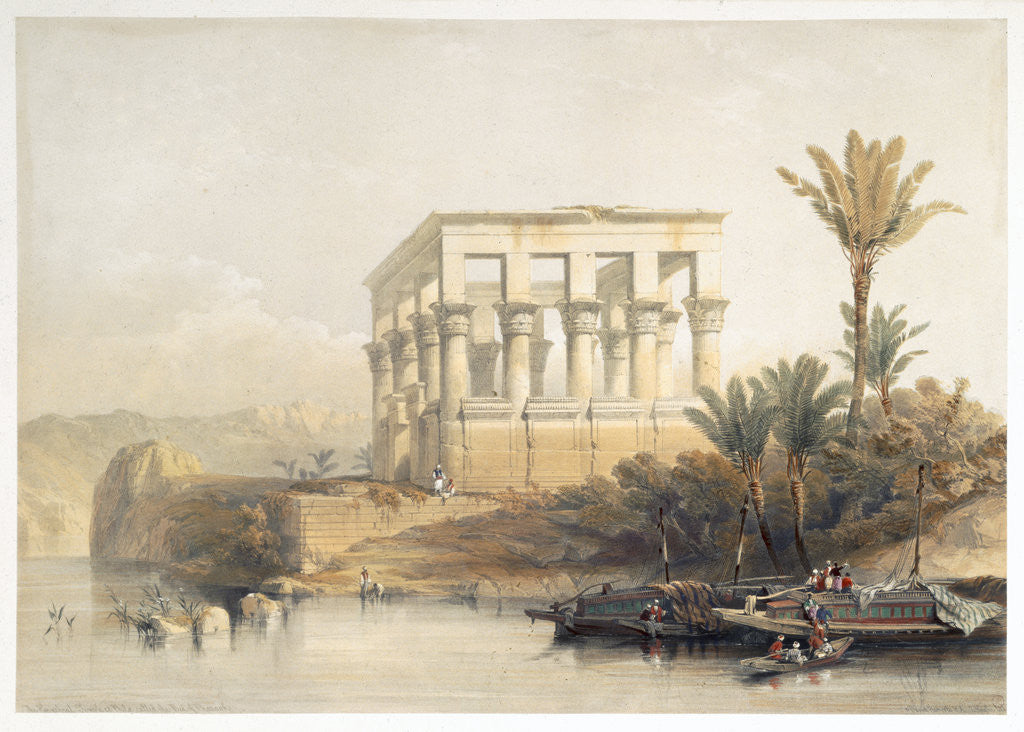 Detail of The Hypaethral Temple at Philae by David Roberts