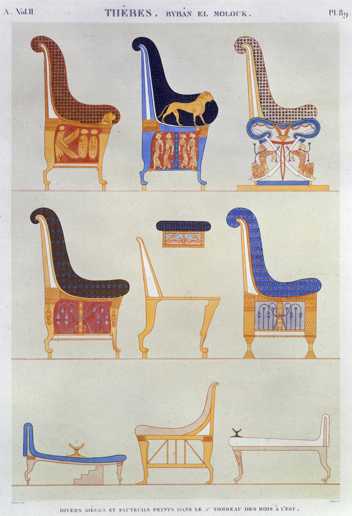 Detail Of Ancient Egyptian Furniture By Pomel