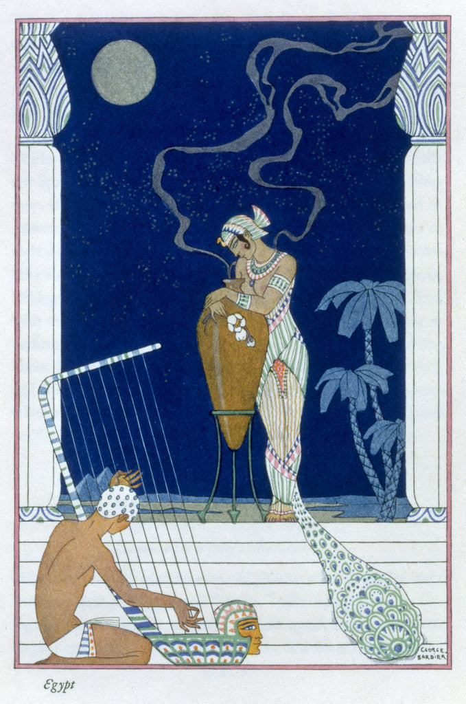 Detail of Egypt by Georges Barbier