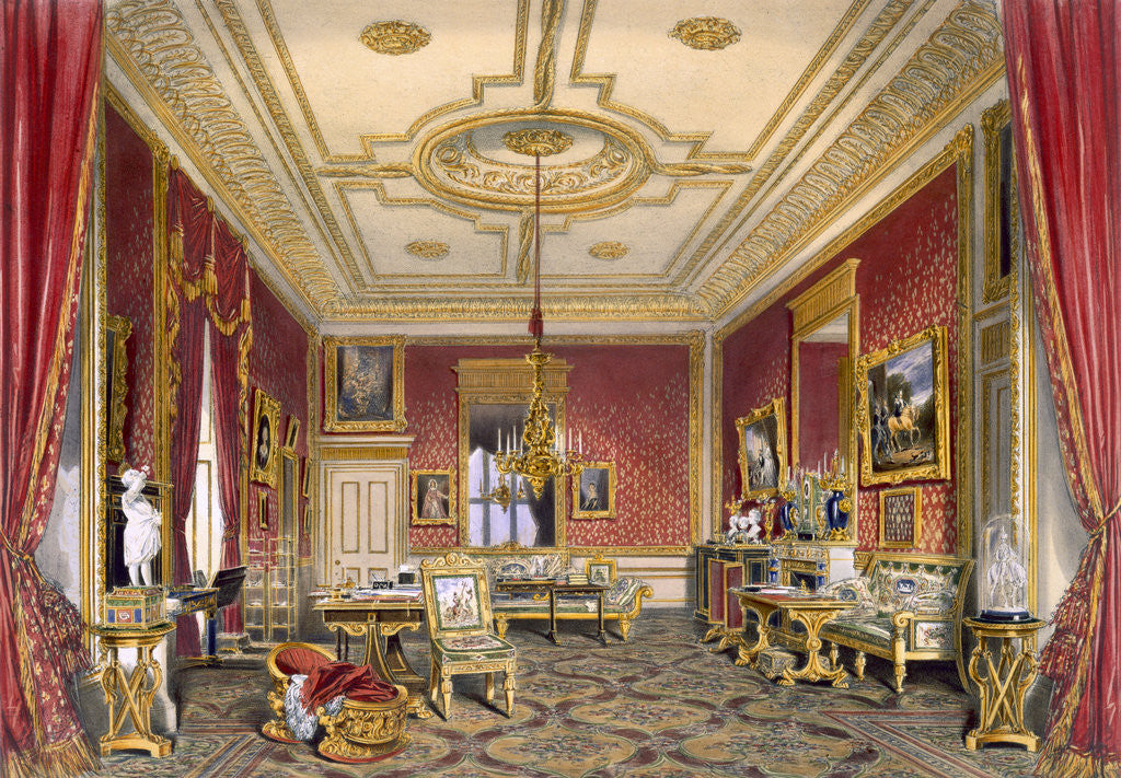 Detail of The Queen's private sitting room by James Baker Pyne