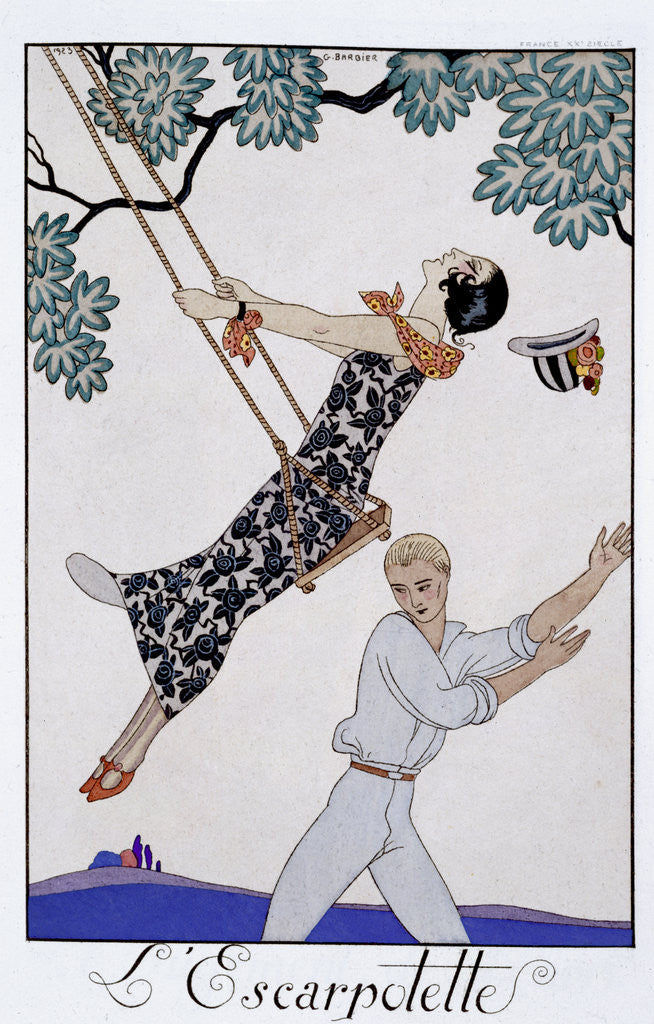Detail of The Swing by Georges Barbier