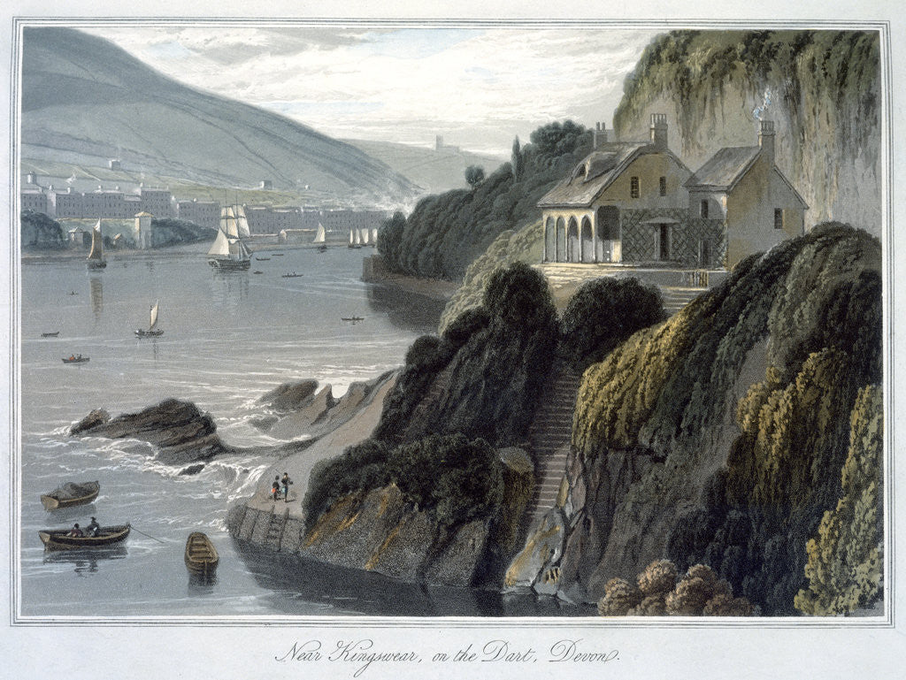 Detail of Near Kingswear by William Daniell