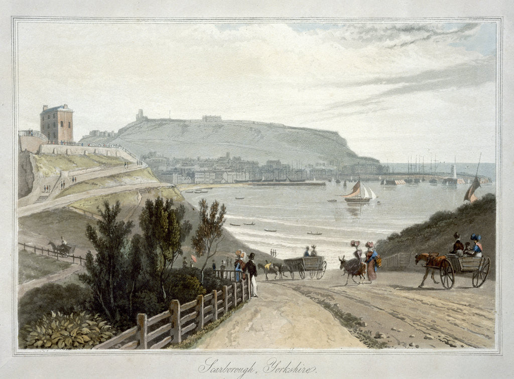 Detail of Scarborough by William Daniell