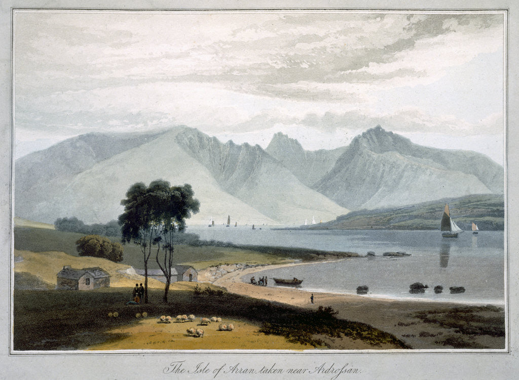 Detail of The Isle of Arran taken near Ardrossan by William Daniell