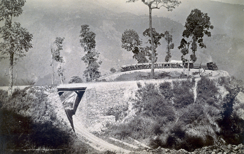 Detail of The loop at Agony Point at Tindharia on the Darjeeling Himalayan Railway by Anonymous