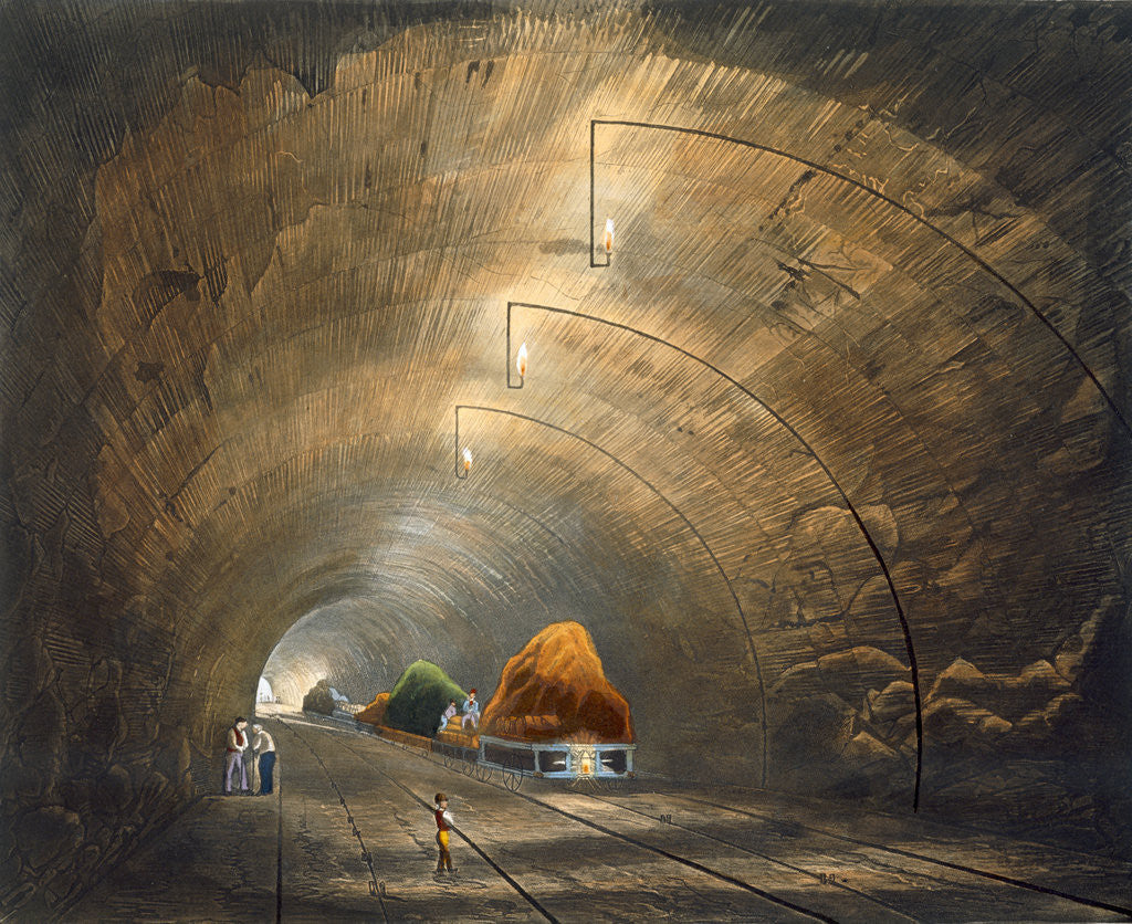 Detail of The Tunnel by Thomas Talbot Bury