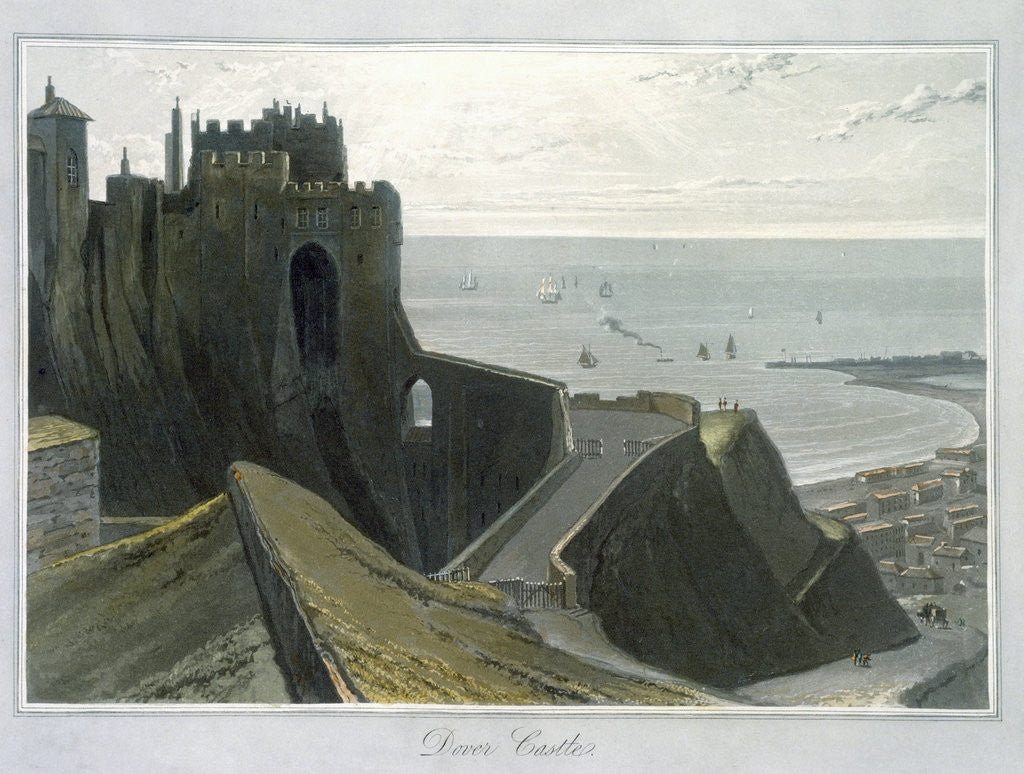 Detail of Dover Castle by William Daniell